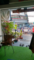The view from the open-air loggia of our guest house in Bangkok.