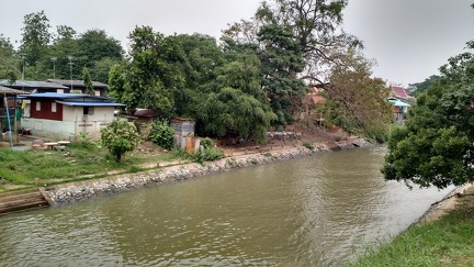 View downriver from our Ayutthaya guest house balcony