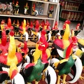 Rooster statues for shrines and entrances